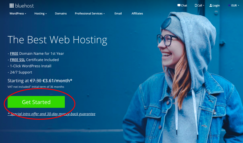 Bluehost affiliate link