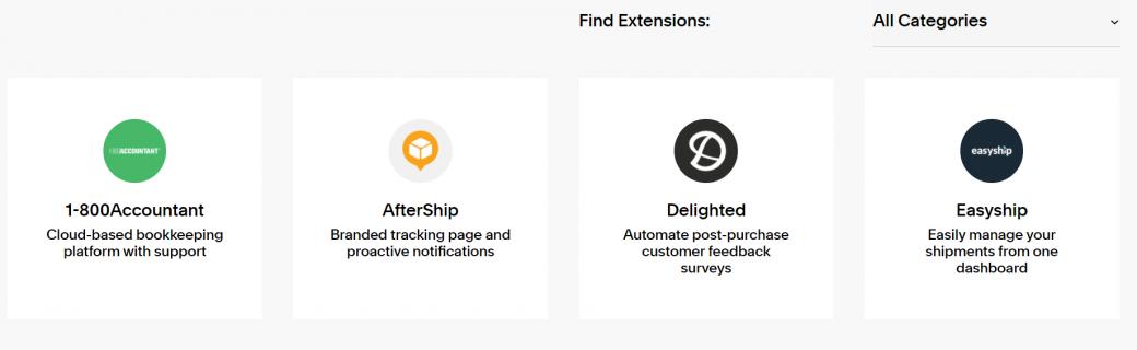 Squarespace extensions
